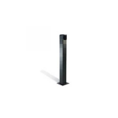 Came DOC-LN Black anodized aluminium post, H=50cm